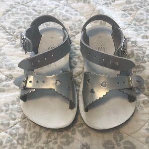 Sun San Sweet Sandals- Hoy shoes; silver